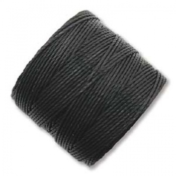 Super-Lon Bead Cord Black