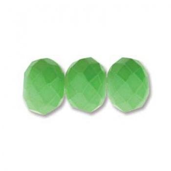 Rondella Cinese Glass 6x4mm Jade