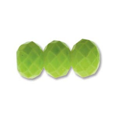 Rondella Cinese Glass 6x4mm Lime
