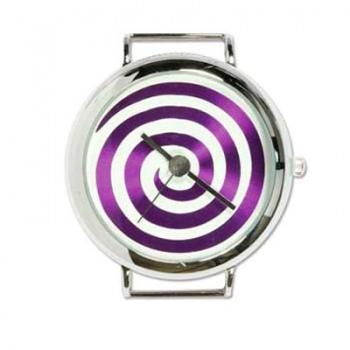 Orologio Argentato Labirinto Viola