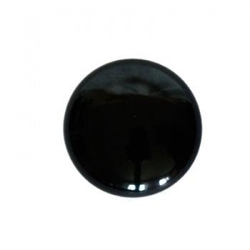 Cabochon Vetro Nero 24mm