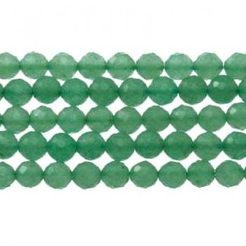 Avventurina Verde Tondo Sfaccettato 4mm