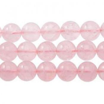 Quarzo Rosa Tondo Liscio 12mm