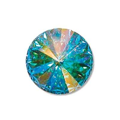 Rivoli Swarovski (1122) Crystal AB Con Foiled 12mm