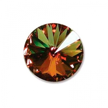Rivoli Swarovski (1122)  Crystal Sahara Con Foiled 14mm