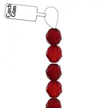 Mezzi Cristalli Preciosa Ruby 4mm
