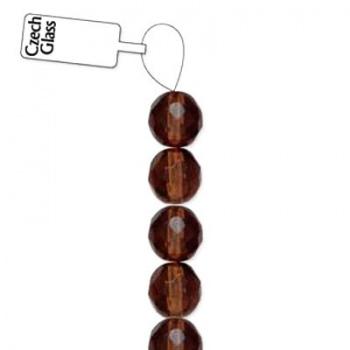 Mezzi Cristalli Preciosa Smoked Topaz 6mm