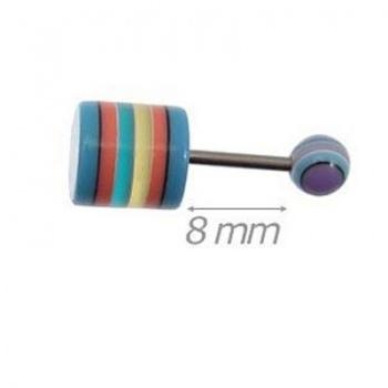 Piercing Barretta Con Cilindro Acrilico 14mm