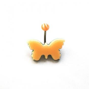 Piercing Banana Acciaio Farfalla