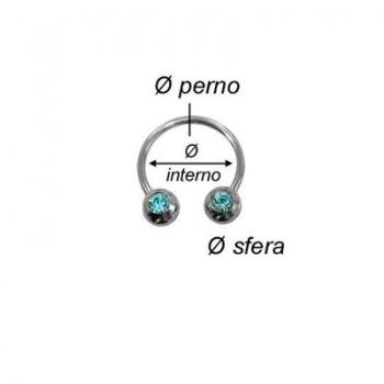 Piercing Circular Con Strass