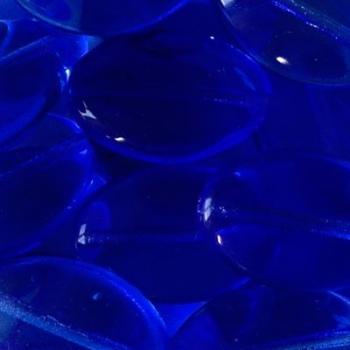 Vetro Ovale con Foro Passante Sapphire 16mm