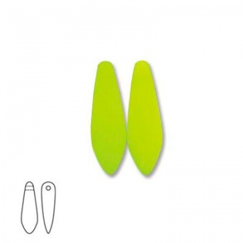 Perline Vetro Daghe 10x3mm Neon Yellow
