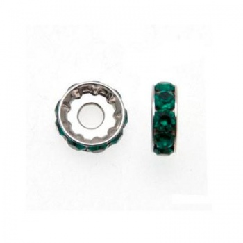 Becharmed Ronedlla Swarovski Rodio (77512) Emerald 12mm