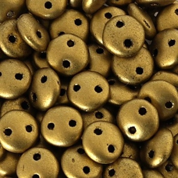 Perline Lentil Matte Metallic Aztec Gold 6mm
