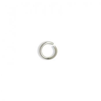 Anellino Aperto Argentato 5mm Diametro 0,8mm
