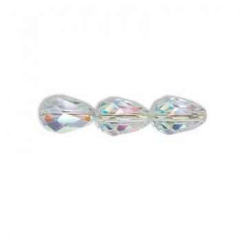 Goccia Sfaccettata Preciosa Crystal AB 7x5mm