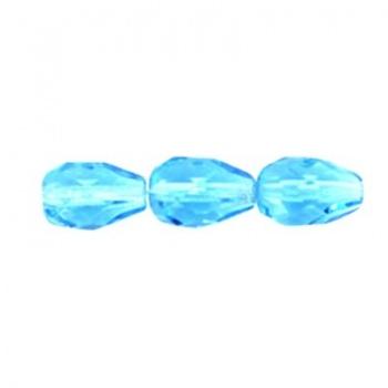 Goccia Drops Sfaccettato Aquamarine 10x7mm