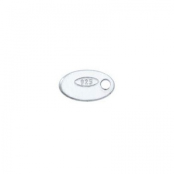 Bollatina Argento 925 Foro Laterale 7x4mm