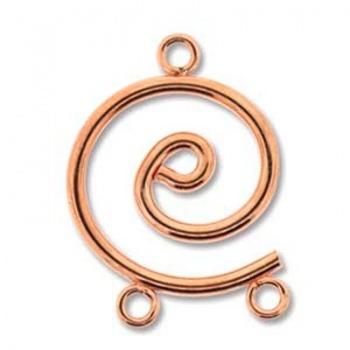 Chandelier Spirale Rame 24x17mm