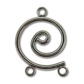 Chandelier Spirale Gunmetal 24x17mm