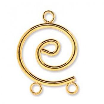 Chandelier Spirale Dorato 24x17mm