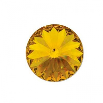 Rivoli Swarovski (1122) Sunflower Con Foiled 14mm