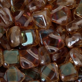 Perline Silky Crystal Celsian 6x6mm