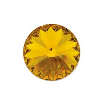 Rivoli Swarovski (1122) Sunflower Con Foiled 12mm