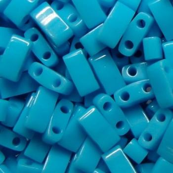 Perline Miyuki Half Tila  5x2,3mm Opaque Turquoise  Blue