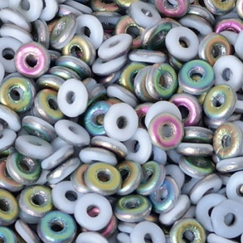 Perle O Bead 4mm Chalk White Vitrail Matte
