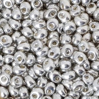 Perline Miyuki Magatama 4mm Metallic Silver