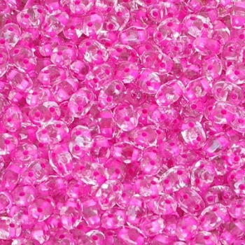 Perline Miniduo Crystal Lined Pink 4x2mm