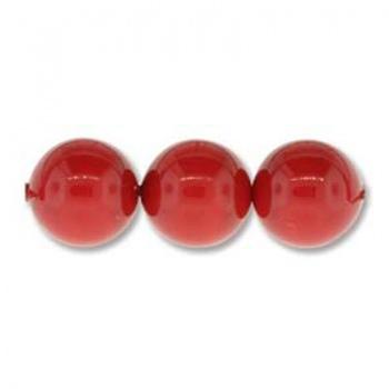 Perle Swarovski (5810) Coral Red 4mm
