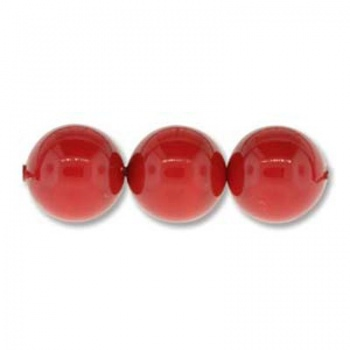 Perle Swarovski (5810) Coral Red 8mm