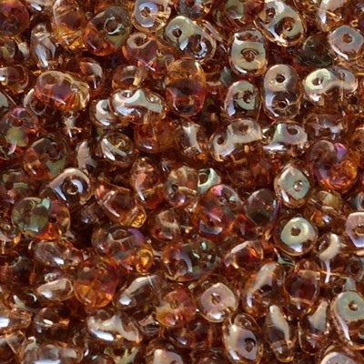 Perline Superduo 2.5x5mm Crystal Celsian