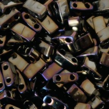 Perline Miyuki Half Tila 5x2,3mm Metallic Brown Iris