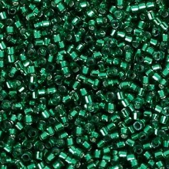 Perline Delica Miyuki 11/0 Silver Lined Emerald AB