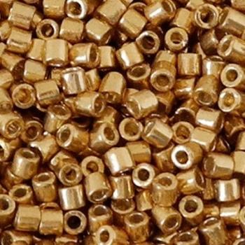 Perline Delica Miyuki 8/0 Duracot Galvanized Gold