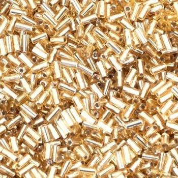 Perline Bugle Miyuki 3mm Silver Lined Gold