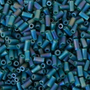 Perline Bugle Miyuki 3mm Matte Emerald AB