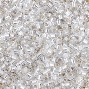 Perline Delica Miyuki 10/0 Silver Lined Crystal