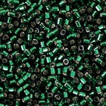 Perline Delica Miyuki 10/0 Silver Lined Green