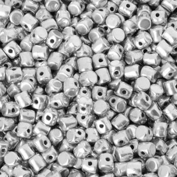 Perline Minos® par Puca®-Silver-3x2,5mm