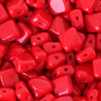 Perline Silky Opaque Red 6x6mm