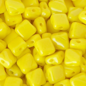 Perline Silky Opaque Yellow 6x6mm
