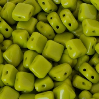 Perline Silky Opaque Green 6x6mm