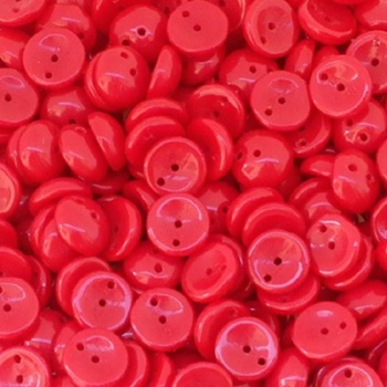 Perline Piggy-Opaque Red-8x4mm