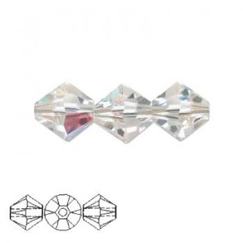 Bicono Swarovski Crystal AB 4mm