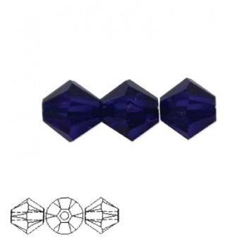 Bicono Swarovski Cobalt 4mm