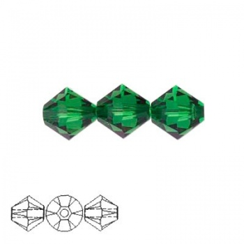 Bicono Swarovski  Dark Moss Green 4mm